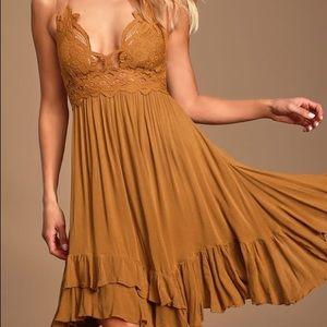 Adella Slip Golden Yellow Lace Dress